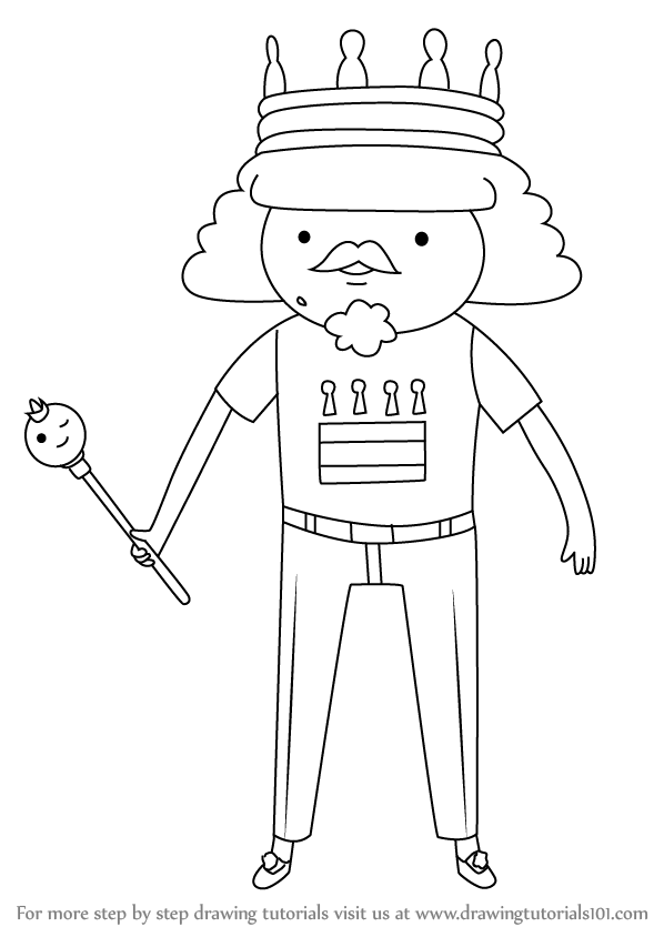 Learn How to Draw King of Ooo from Adventure Time ...