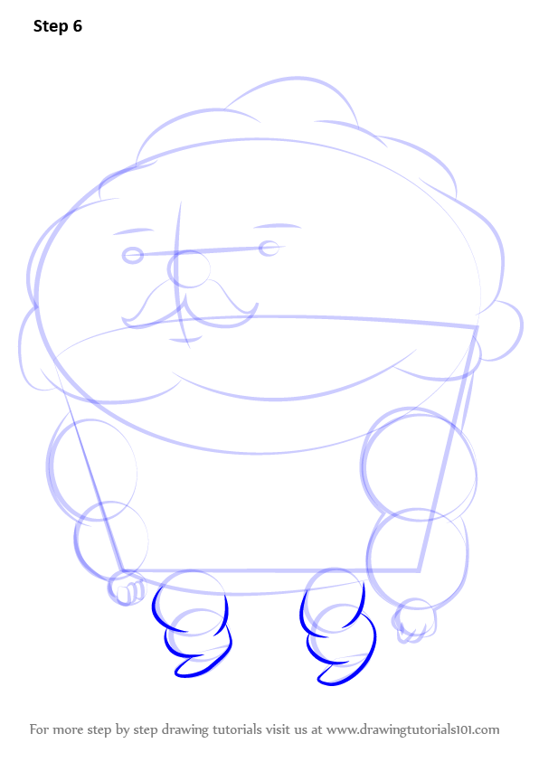 Learn How to Draw Mr Cupcake from