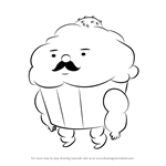 How to Draw Mr. Cupcake from Adventure Time