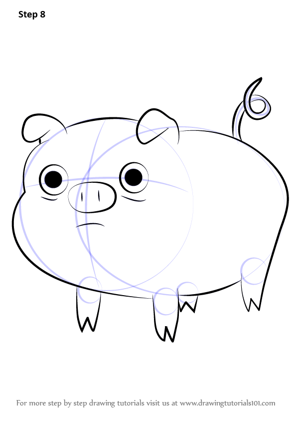 Learn How to Draw Mr Pig from