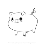 How to Draw Mr. Pig from Adventure Time