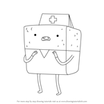 How to Draw Nurse Pound Cake from Adventure Time