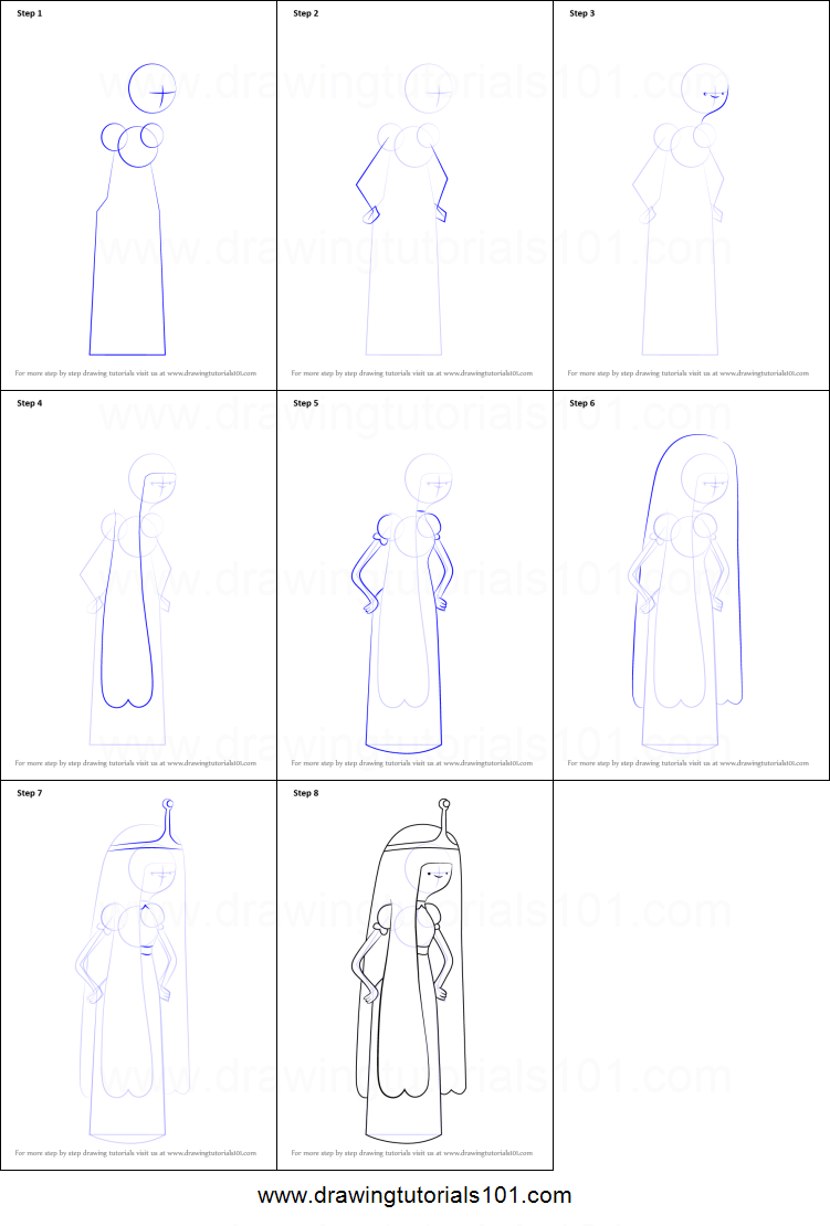 How To Draw Princess Bubblegum From Adventure Time How To Draw Princess Printable
