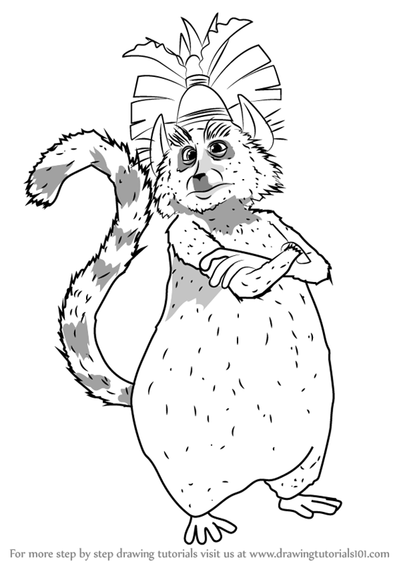 Beautiful Madagascar King Julian Coloring Pages Ideas Example