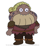 How to Draw Braddock from Amphibia