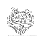 How to Draw Animaniacs Logo from Animaniacs