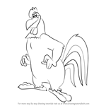 How to Draw Foghorn Leghorn from Animaniacs