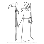 How to Draw The Grim Reaper from Animaniacs