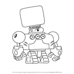 How to Draw Robo-Ron from Atomic Puppet