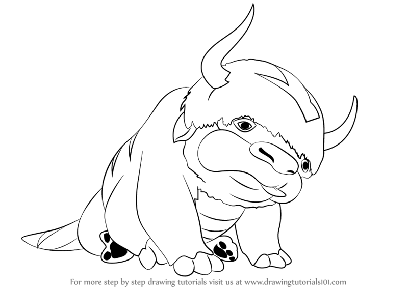 Step By Step How To Draw Appa From Avatar The Last