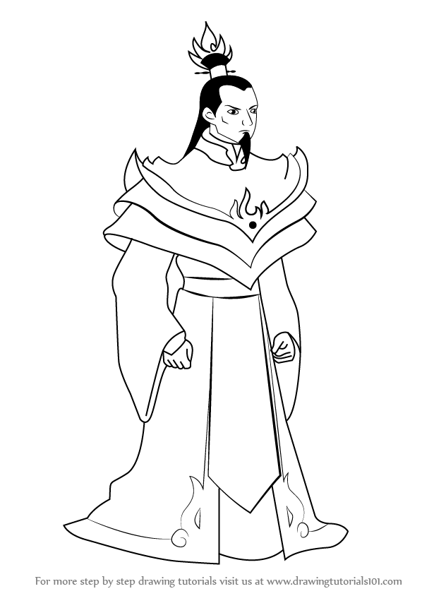 how to draw fire lord ozai from avatar the last airbender