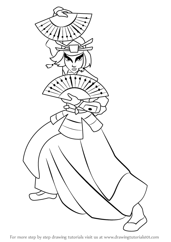 Learn how to draw suki from avatar the last airbender for Avatar the last airbender coloring pages toph