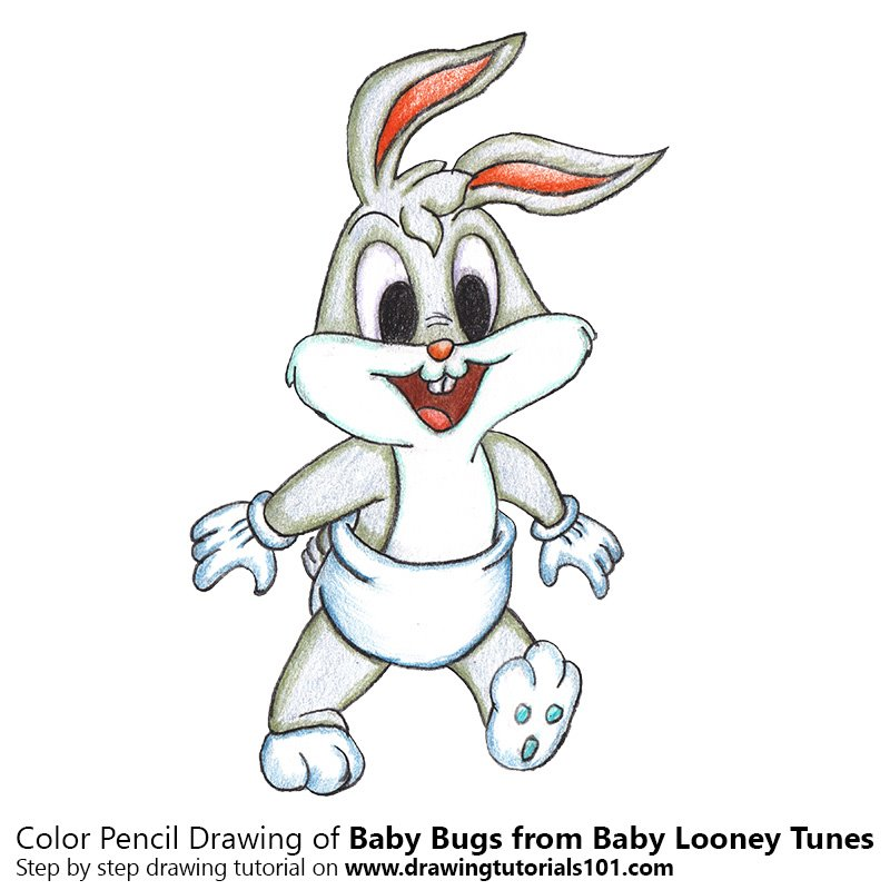 Baby Bugs from Baby Looney Tunes Color Pencil Drawing