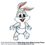 How to Draw Baby Bugs from Baby Looney Tunes