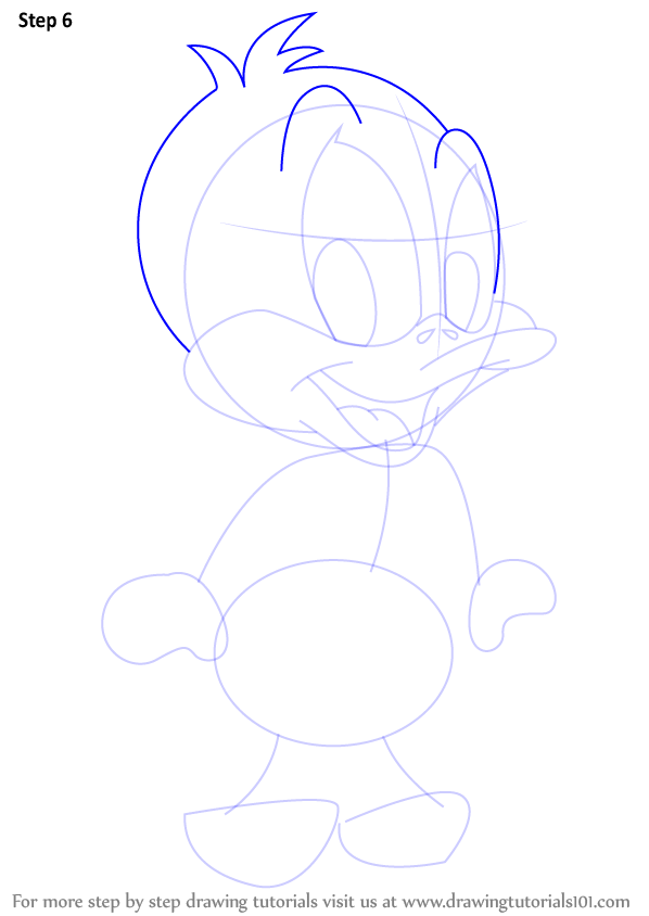 How to draw daffy duck step by step