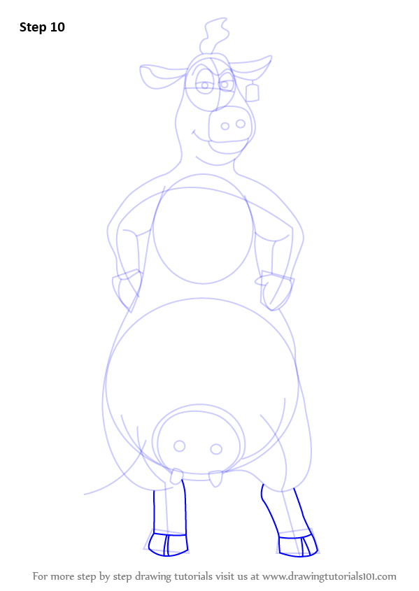 learn how to draw bessy from back at the barnyard back at