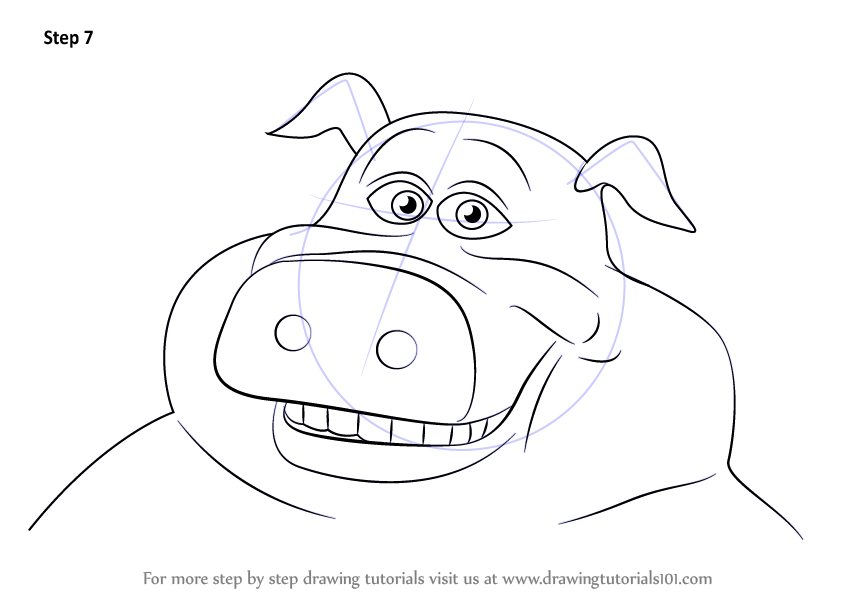 barnyard coloring pages characters - photo#5