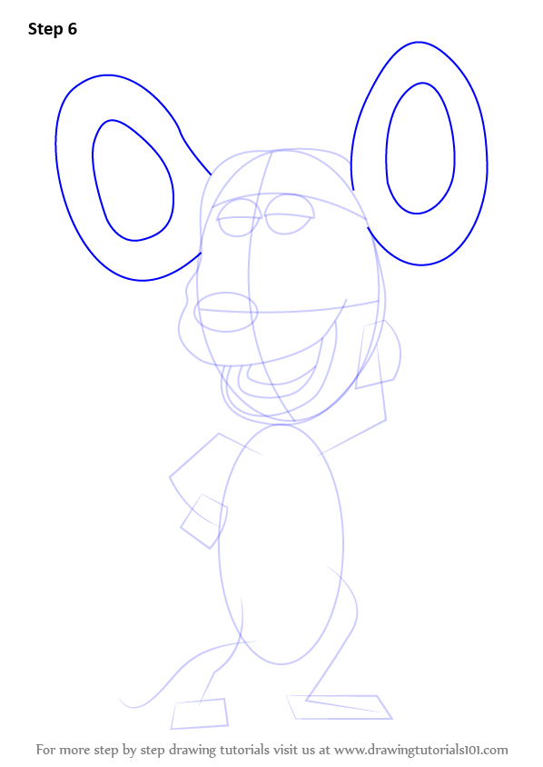 how to draw ears from the back