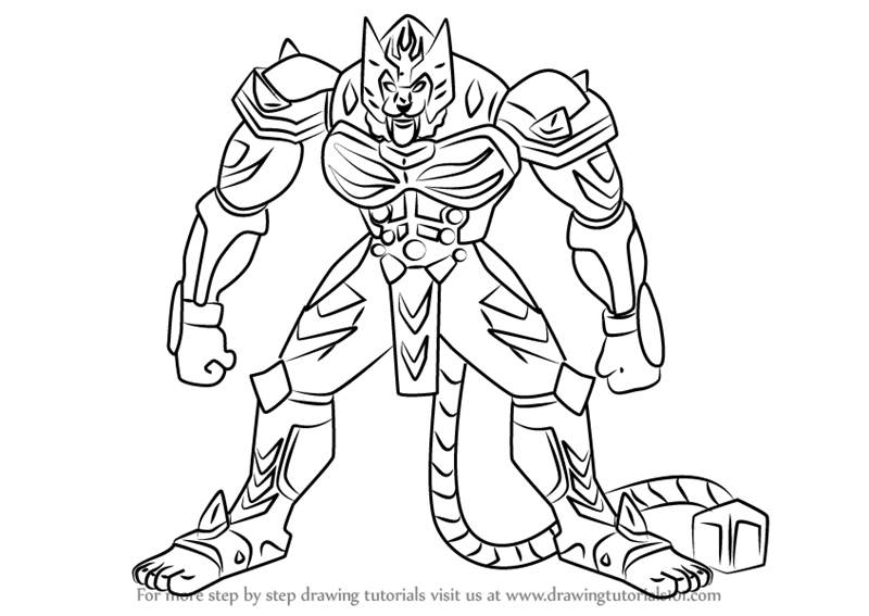 blade drawing learn how to draw blade tigrerra from bakugan battle 6213
