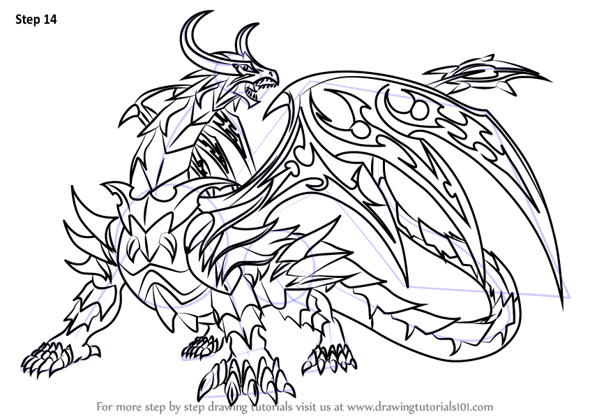 Learn how to draw dharak from bakugan battle brawlers for Bakugan coloring pages