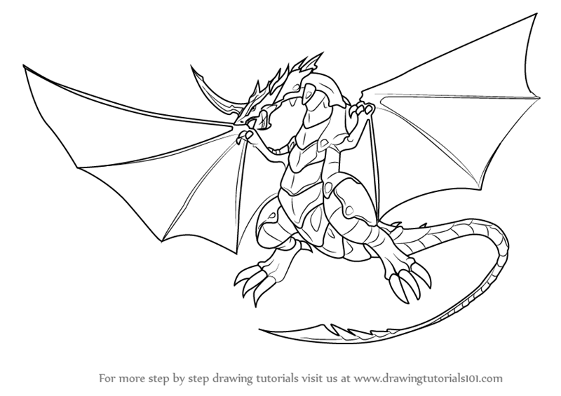 Learn How to Draw Dragonoid from Bakugan Battle Brawlers ...
