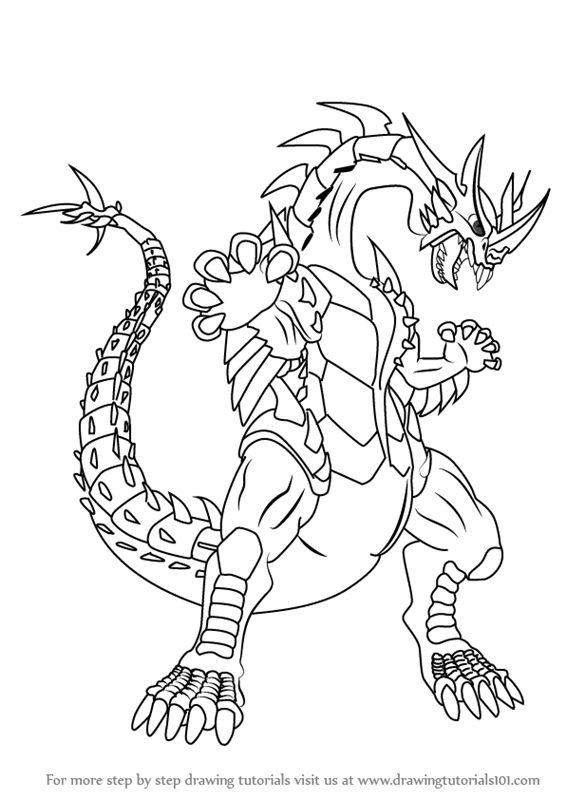 bakugan hydranoid coloring pages - photo#18