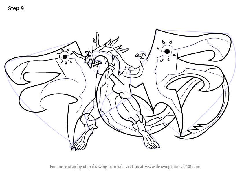 Learn how to draw infinity dragonoid from bakugan battle for Bakugan drago coloring pages