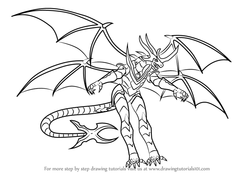 Learn How to Draw Lumino Dragonoid from Bakugan Battle ...