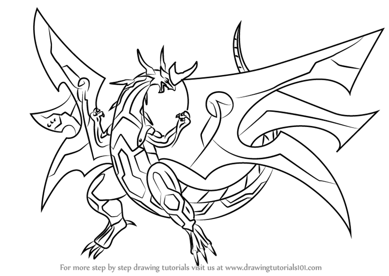 bakugan titanium dragonoid coloring pages - photo#17