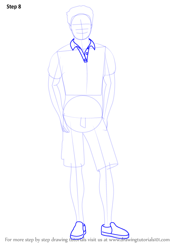 Step By Step How To Draw Ken From Barbie Life In The