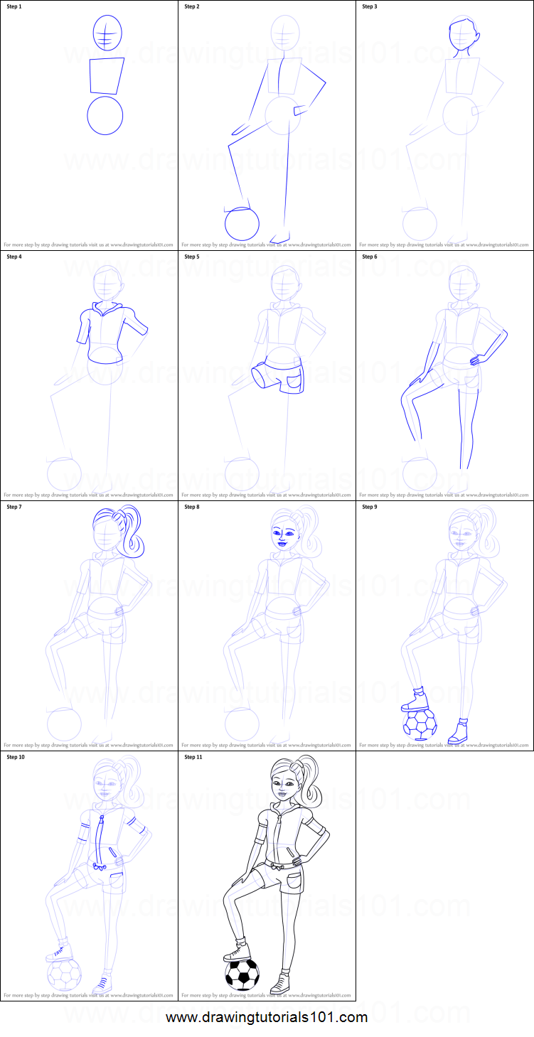 How to Draw Stacie from Barbie Life in the Dreamhouse ...
