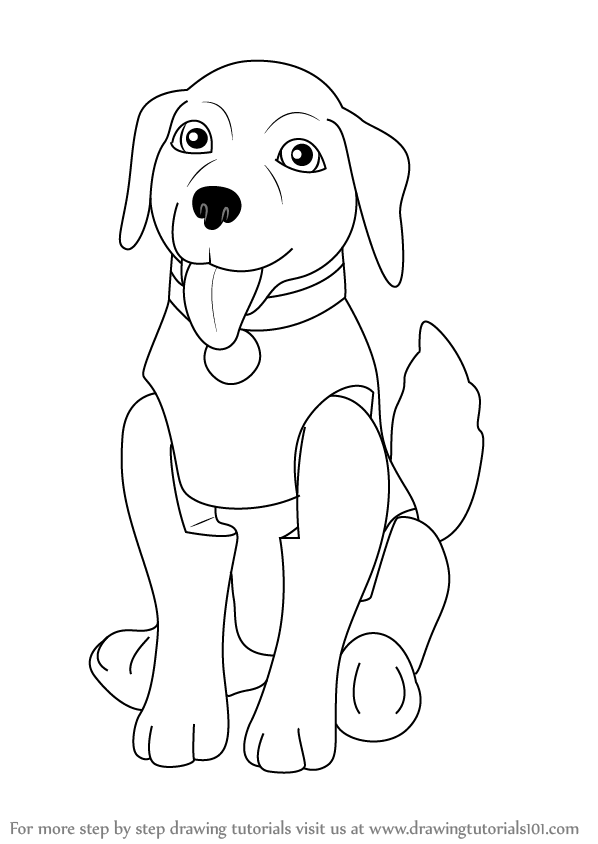 Step by step how to draw taffy from barbie life in the for Barbie in the dream house coloring pages