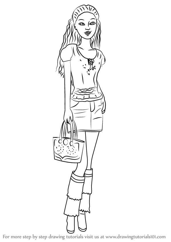 Learn how to draw teresa from barbie life in the for Barbie in the dream house coloring pages