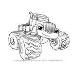 How to Draw Crusher from Blaze and the Monster Machines