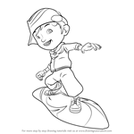 How to Draw BoBoiBoy Cyclone from BoBoiBoy