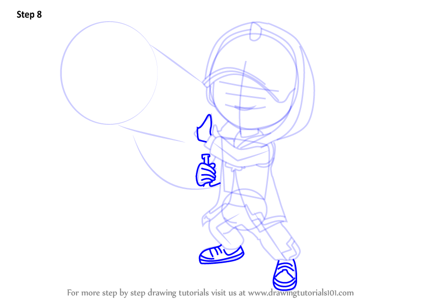 Learn How To Draw Boboiboy Ice From Boboiboy Boboiboy Step By Step