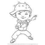 How to Draw BoBoiBoy Wind from BoBoiBoy