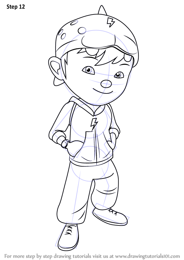 Learn How To Draw Boboiboy Boboiboy Step By Step