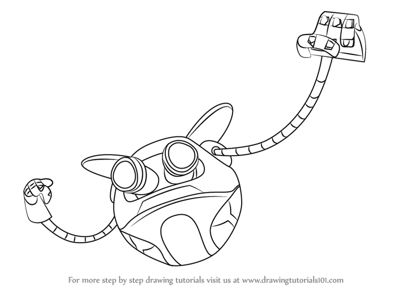 Learn How to Draw Ochobot from BoBoiBoy BoBoiBoy Step by Step Drawing Tutorials