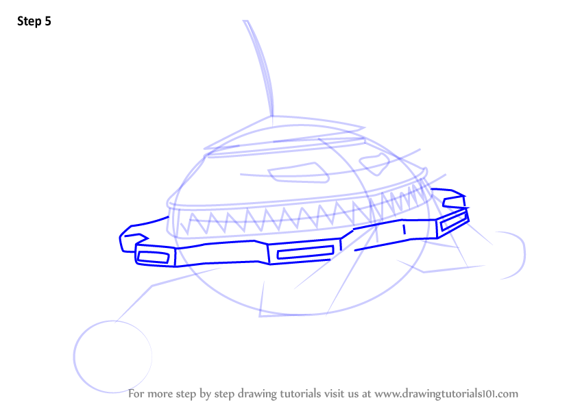 Learn How To Draw Probe From Boboiboy Boboiboy Step By