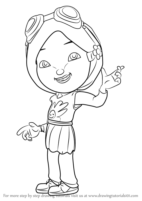 Learn How To Draw Yaya Yah From Boboiboy Step By Rhdrawingtutorials101: Colouring Pages Boboiboy At Baymontmadison.com