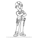 How to Draw Leo from Bob the Builder 2015