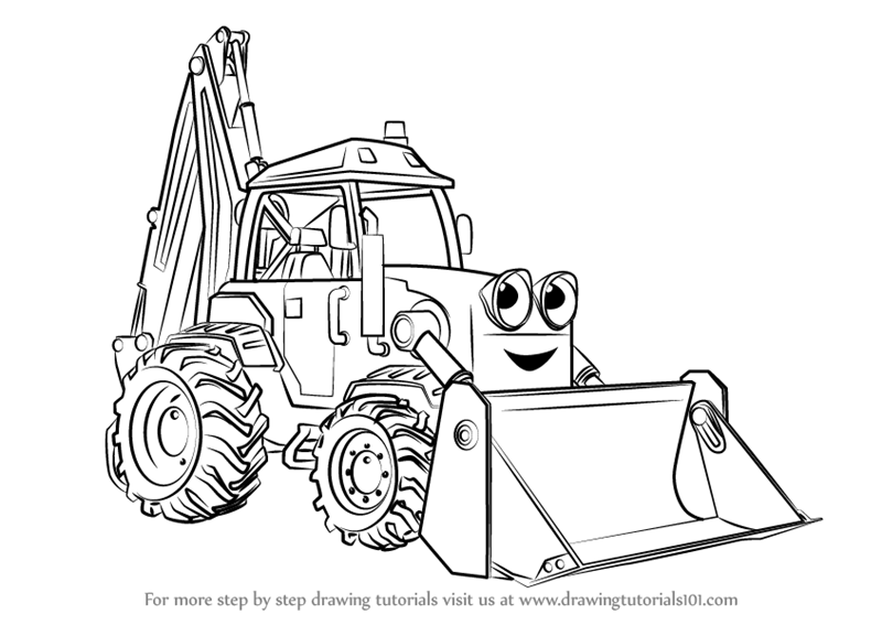 Learn How To Draw Scoop From Bob The Builder 2015 Bob The Builder 2015 Step By Step Drawing Tutorials