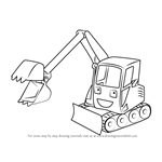 How to Draw Grabber from Bob the Builder