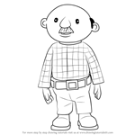 How to Draw Percy Pickles from Bob the Builder