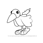 How to Draw Squawk from Bob the Builder