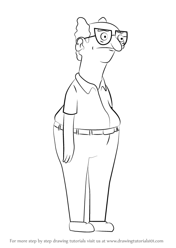 Learn How To Draw Ai From Bob S Burgers Bob S Burgers