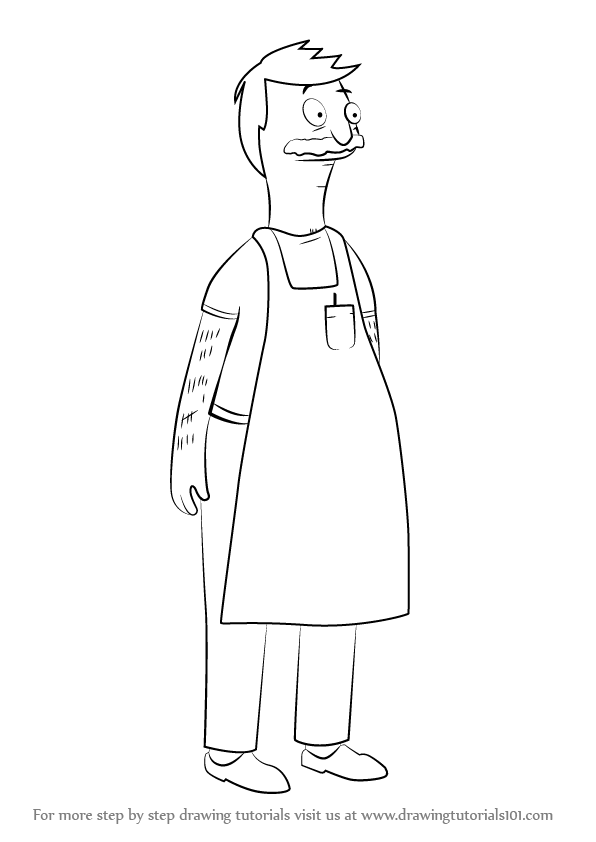 Step By Step How To Draw Bob Belcher From Bob S Burgers