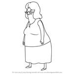 How to Draw Gloria from Bob's Burgers