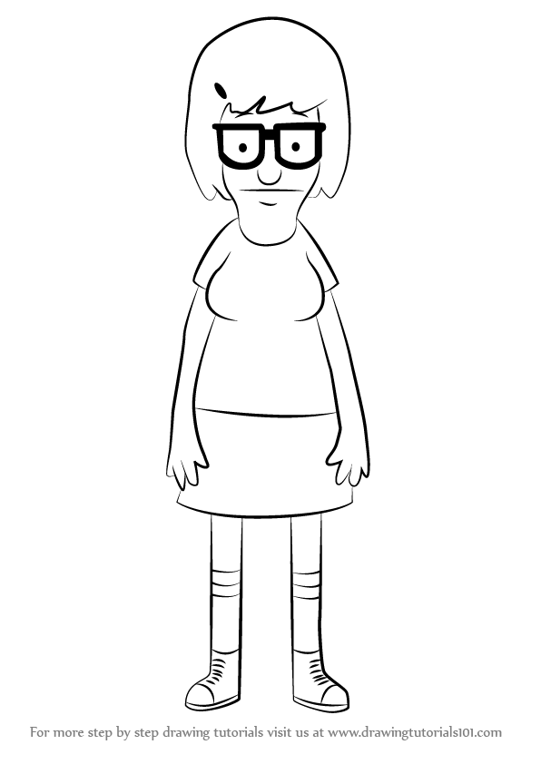 Learn How To Draw Tina Belcher From Bob S Burgers Bob S
